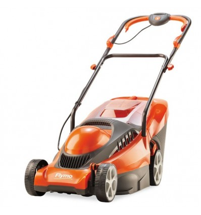 "FLYMO Chevron 34VC Rotary Mower, 34cm/13.5"" Working Width, Electric 1400 Watt Power Unit"