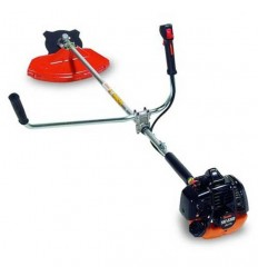 TANAKA TBC 230 D Brushcutter, 22cc Engine, Straight Shaft 24, Double Handle, Nylon Head + Blade, Single S Harness
