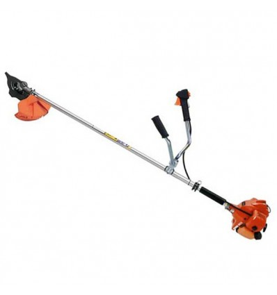 TANAKA TBC 270 PFDS Brushcutter, 27cc Engine, Straight Shaft 24, Double Handle, Nylon Head, Single S Harness