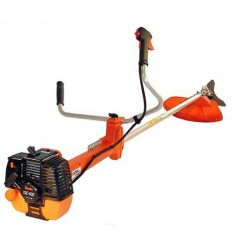 TANAKA TBC 600 Brushcutter, 47cc, Straight Shaft 30, Low-Vib.Double Handle, Manual Head + Blade, Double D4 Harness