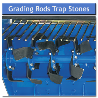 The grading rods trap stones etc while the counter-rotating tines dig the ground