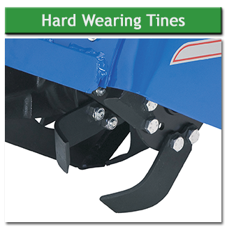 The tines are very hard wearing and easy to replace - they can also be replaced individually