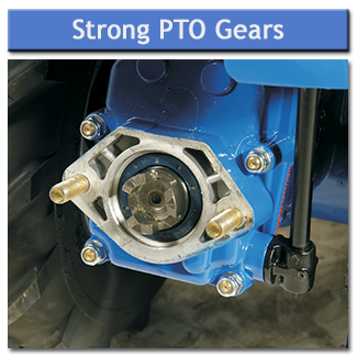 Strong PTO gears for unbeatable durability and proven drive connection