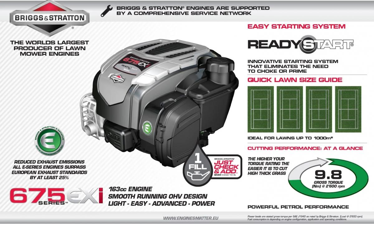 Briggs & Stratton 675 EXi Ready Start Engine Overview