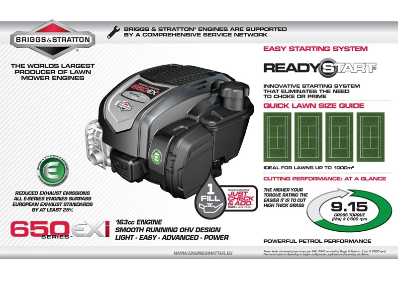Briggs & Stratton 650 EXi Ready Start Engine Overview
